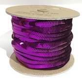 Elastic plate sequin 1 row  - PURPLE-PLUM