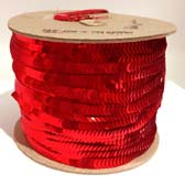 Elastic plate sequin 1 row  - RED