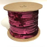 Elastic plate sequin 1 row  - WINE