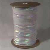 1 row 6 mm elastic iridescent cup sequin - WHITE (fehér)
