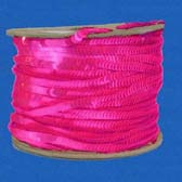 1 row 6 mm elastic fluorescent plate shape sequin - PINK