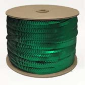 1 row 6 mm elastic, metal shining cup sequin - IRELAND