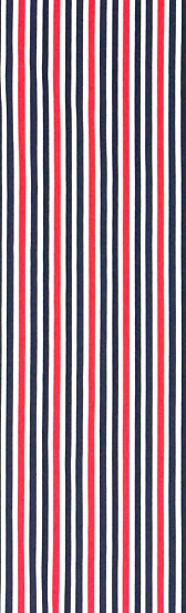 Stripped material - BLUE/RED
