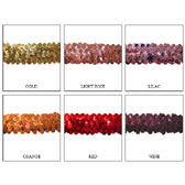 Elastic sequin trim, 3 rows, 1,2 wide