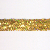 Holographic elastic sequin trim, 4 rows, 1,6