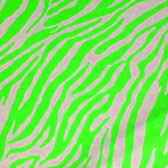 Zebra patterned neon material